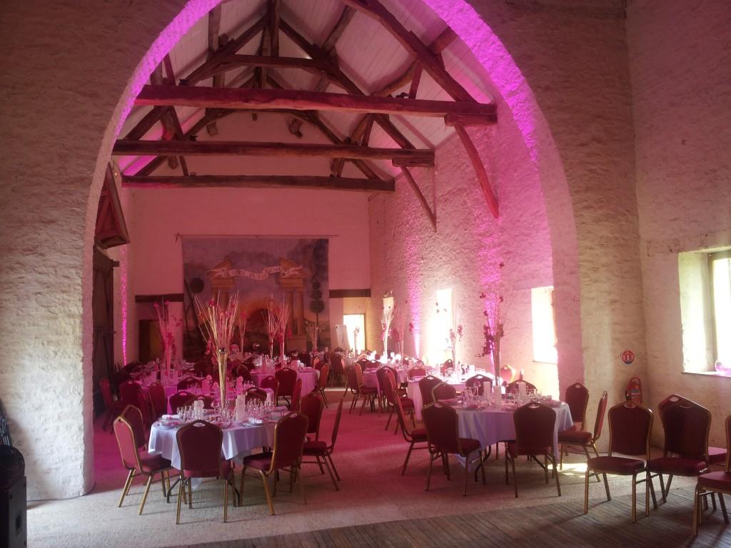 Eclairage salle de mariage Chateau de Bussy Rabutin Cote d'or