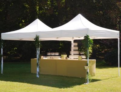 Tente de réception cocktail mariage (location tonnelles) MLA Dijon