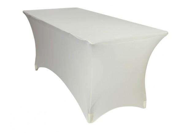 Location housse extensible lycra pour table rectangulaire blanche MLA DIJON