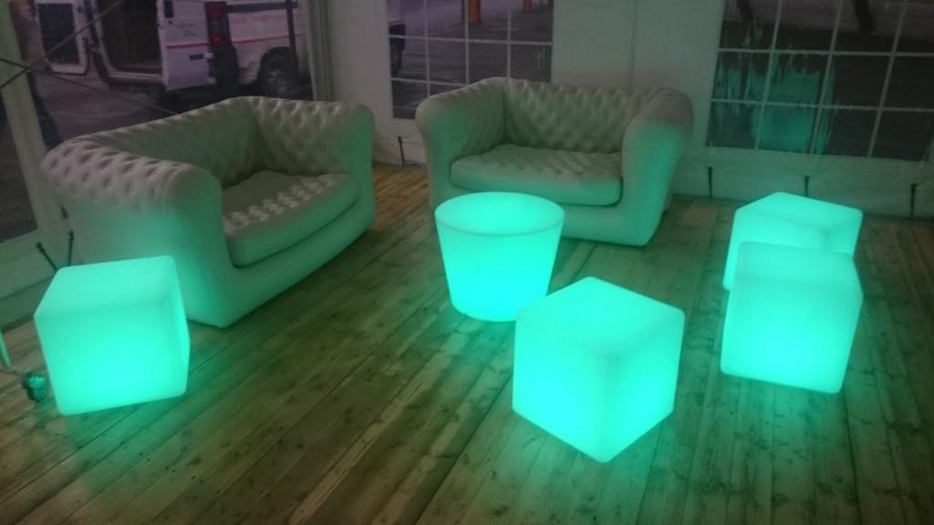 Mobilier LED et Canapés gonflables (MLA DIJON)