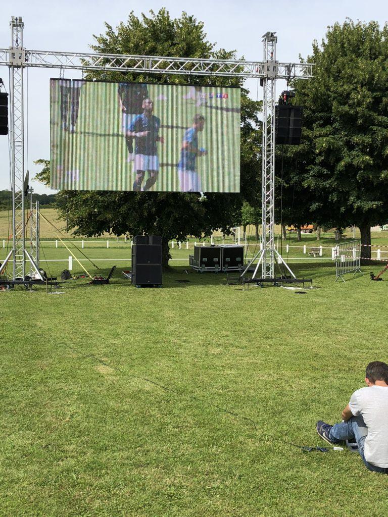 Sonorisation et projection plein jour coupe du monde