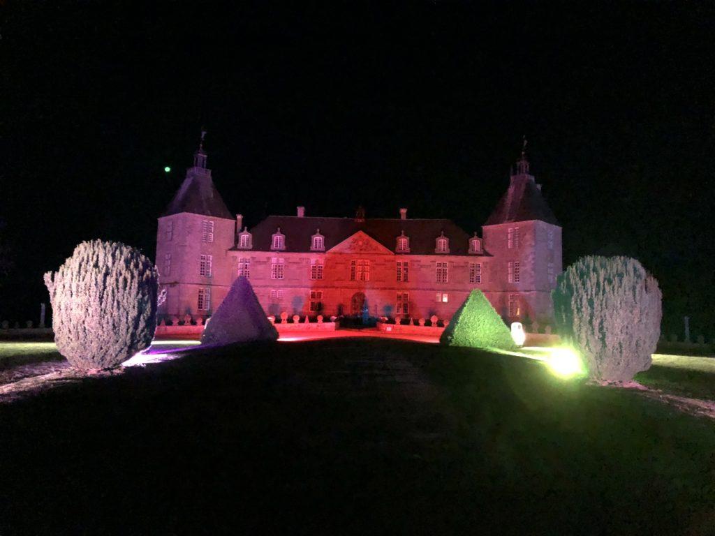 Mise en lumière du château de Sully (Saône et Loire France)