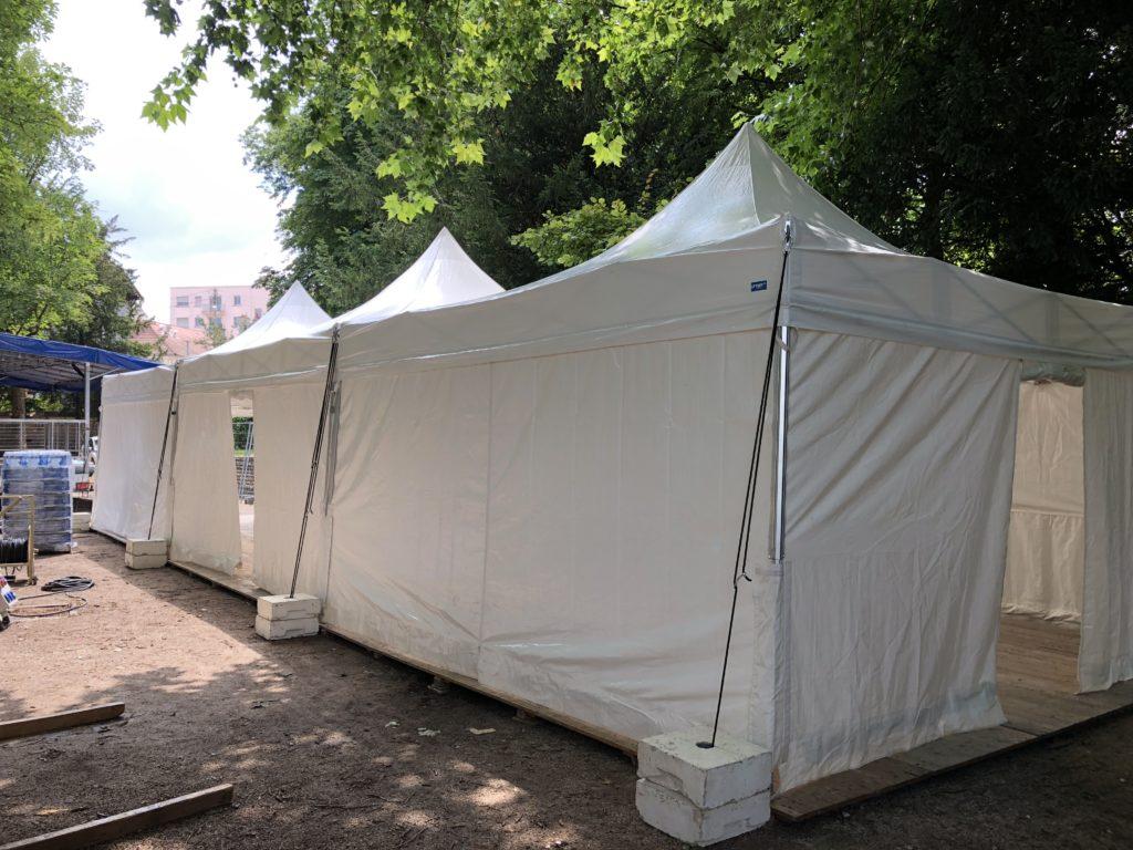 Location tentes pliantes 5/5m Jardin Darcy Dijon