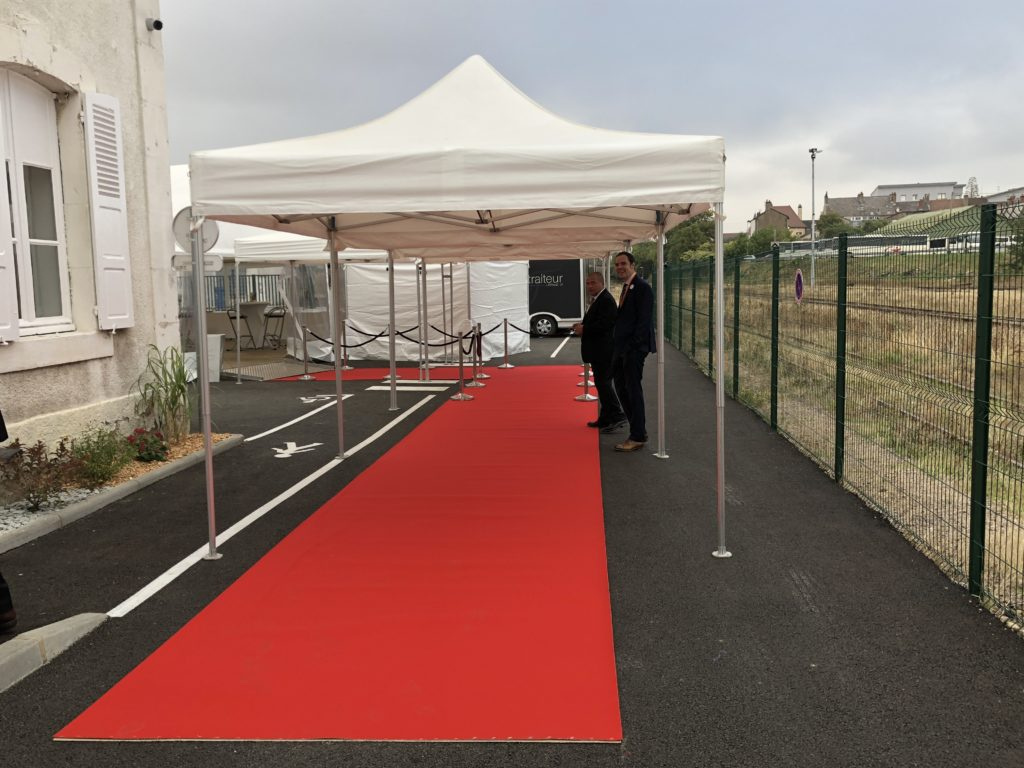 Tapis rouge Prestation Autun (France)