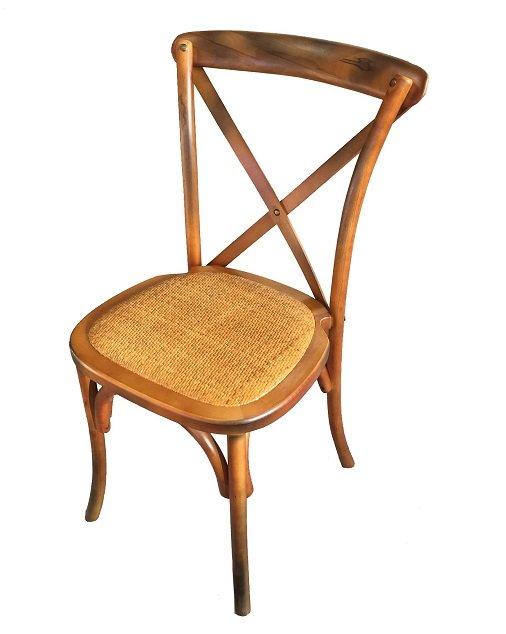 Chaise de Bistrot en bois Dos Croisé