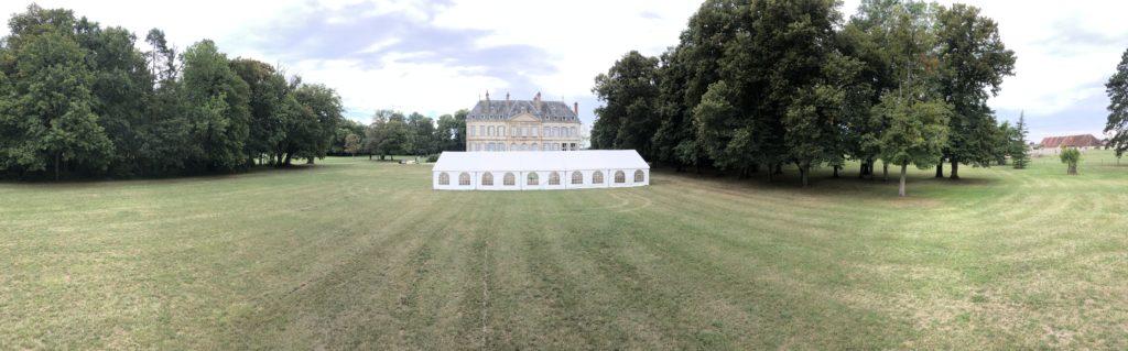 Location chapiteau au château de Brognon